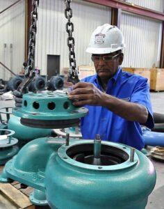 Submersible slurry pumps repair